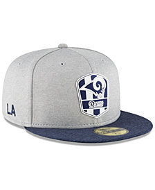 New Era Boys' Los Angeles Rams Official Sideline Road 59FIFTY Fitted Cap