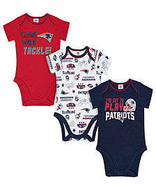 Gerber Childrenswear New England Patriots 3 Pack Creeper Set, Infants (0-9 Months)