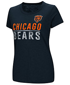G-III Sports Women's Chicago Bears Dynasty Stacked Glitter T-Shirt