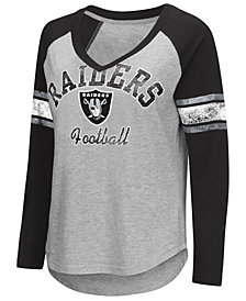 G-III Sports Women's Oakland Raiders Sideline Long Sleeve T-Shirt