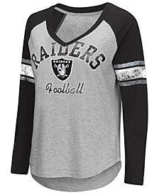 G-III Sports Women's Oakland Raiders Sideline Long Sleeve T-Shirt