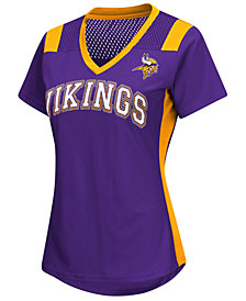 G-III Sports Women's Minnesota Vikings Wildcard Jersey T-Shirt