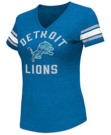 G-III Sports Women's Detroit Lions Wildcard Bling T-Shirt