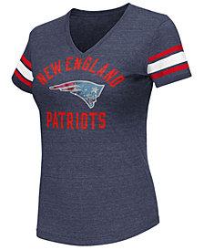 G-III Sports Women's New England Patriots Wildcard Bling T-Shirt