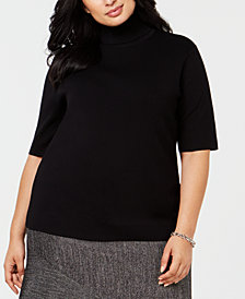 Anne Klein Plus Size Turtleneck Sweater