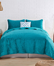 VCNY Home Solid Velvet Quilt Set Collection