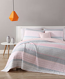 VCNY Home Stockholm 3-Pc. Striped Twin XL Quilt Set