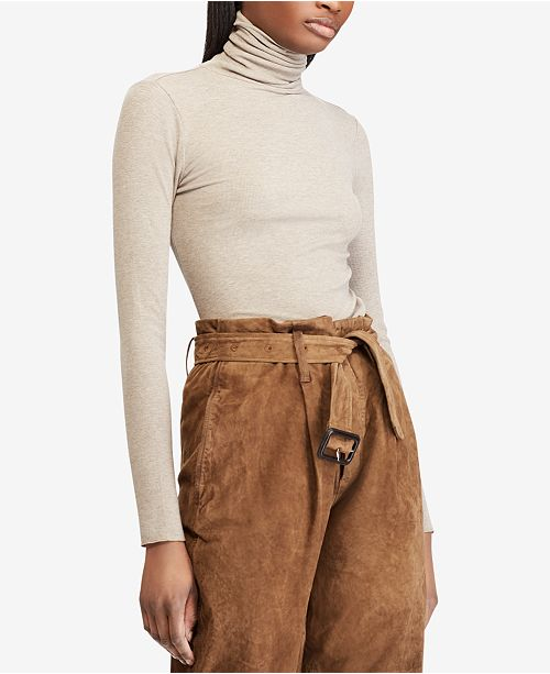 Polo Ralph Lauren Ribbed Knit Turtleneck Top