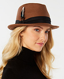 Nine West Wool Felt Porkpie Fedora, Created for Macy's