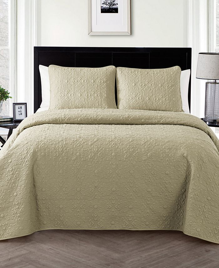 VCNY Home - Caroline Embossed Floral 2-Pc. Twin Quilt Set