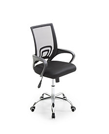 Mesh, Mid-Back, Adjustable Height, Swiveling Office Chair with Chrome Base