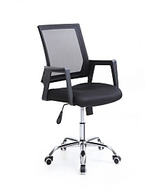 Adjustable Height Office Chair with Chrome Base