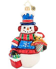Christopher Radko Macy's Snowman Ornament