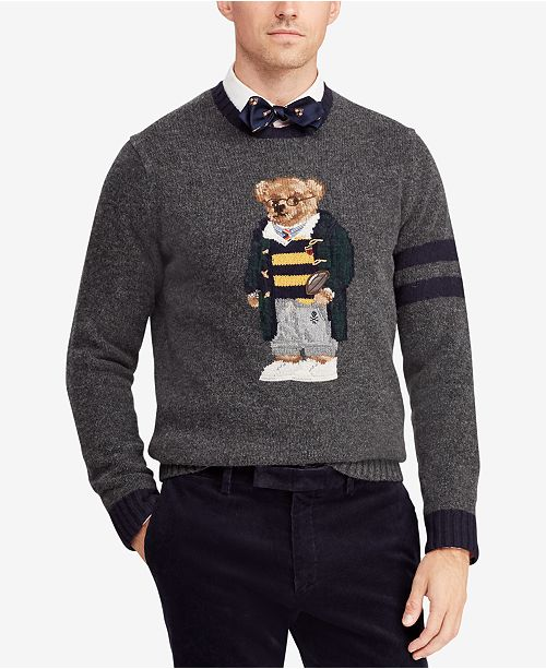 75b73844efd8a Polo Ralph Lauren Men s Polo Bear Sweater   Reviews - Sweaters - Men ...