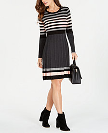 Jessica Howard Striped Sweater Dress