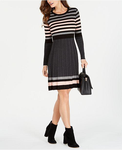 f6b84aeb862 Jessica Howard Striped Sweater Dress  Jessica Howard Striped Sweater Dress  ...