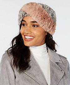 Marcus Adler Colorblocked Sheared Fur Headband
