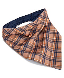 House of Barker Brown Plaid Reversible Beige/Brown Bandana Large