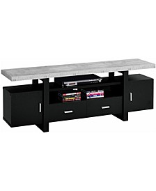 """Cement 60""""L Tv Stand in Black"""