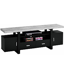 "Monarch Specialties Cement 60""L Tv Stand in Black"
