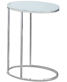 Accent Table - Oval Frosted Tempered Glass