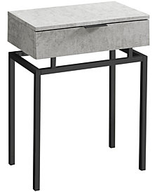 "Accent Table - 24""H Black Nickel Metal"