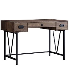 "Monarch Specialties Wood Grain  48""L Computer Desk in Brown"