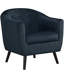 Monarch Specialties Accent Chair - Dark Blue Mosaic Velvet