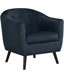 Monarch Specialties Accent Chair - Dark Blue Mosaic Velvet