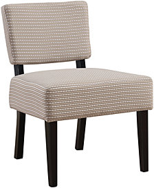 Monarch Specialties Abstract Dot Fabric Accent Chair in Light & Dark Taupe