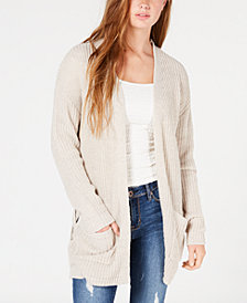 Hooked Up by IOT Juniors' Long Knit Cardigan
