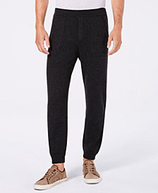 Tasso Elba Men's Regular-Fit Cashmere Joggers, Created for Macy's