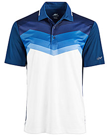 Attack Life by Greg Norman Men's Malden Ombré Stripe Performance Polo, Created for Macy's