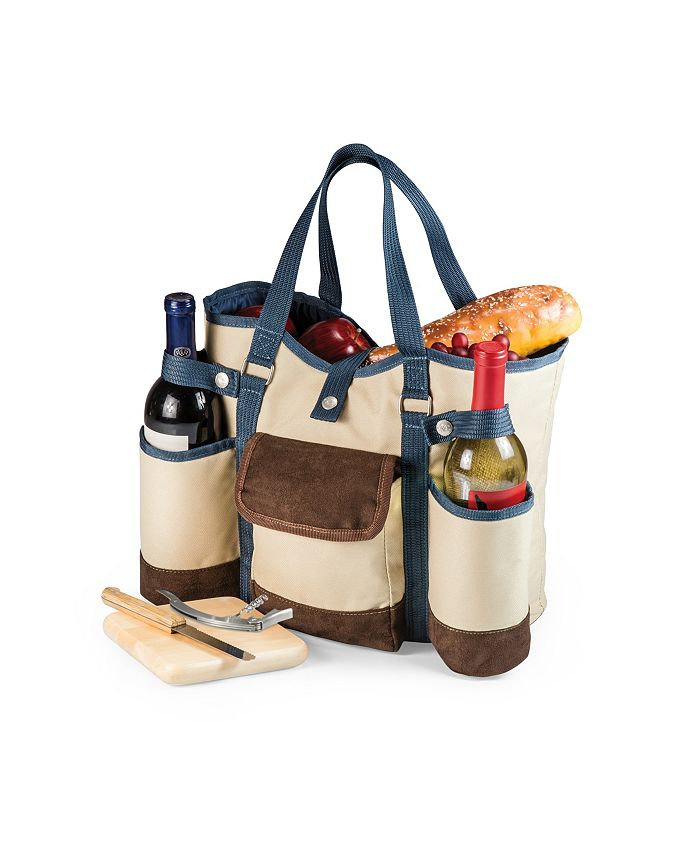 Picnic Time - Wine Country Tote – Wine & Cheese Picnic Tote