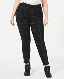 Plus Size Printed Seam-Front Leggings, Created for Macy's