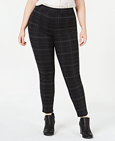 Style & Co Plus Size Printed Seam-Front Leggings, Created for Macy's
