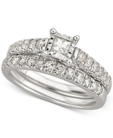 Diamond Bridal Set (1 ct. t.w.) in 14k White Gold