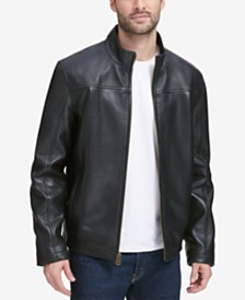 Cole Haan Men's Smooth Leather Jacket, Created for Macy's