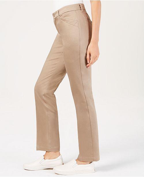 ef8543fee7a81c Lee Platinum Petite Flex Motion Straight-Leg Jeans & Reviews - Jeans ...