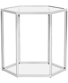 Teagan Glass End Table