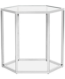 Teagan Glass End Table, Quick Ship