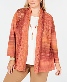 Alfred Dunner Plus Size Autumn in New York Layered-Look Necklace Top