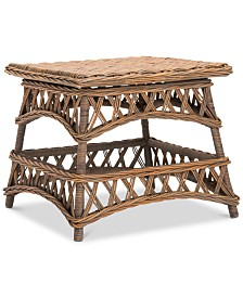 Sora Wicker Accent Table, Quick Ship