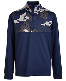 Ideology Big Boys Camo-Print 1/4-Zip Jacket, Created for Macy's