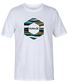 Hurley Men's Hexagon Logo Graphic T-Shirt