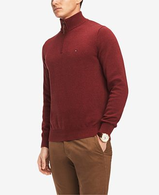 Tommy Hilfiger Mens Quarter Zip Sweater Created For Macys