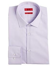 HUGO Men's Slim-Fit Light Purple Solid Dress Shirt