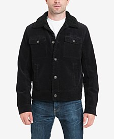 Men's Kayne Corduroy Sherpa Trucker Jacket with Fleece Lining