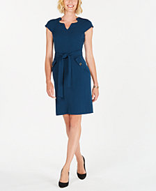 Kasper Belted Sheath Dress
