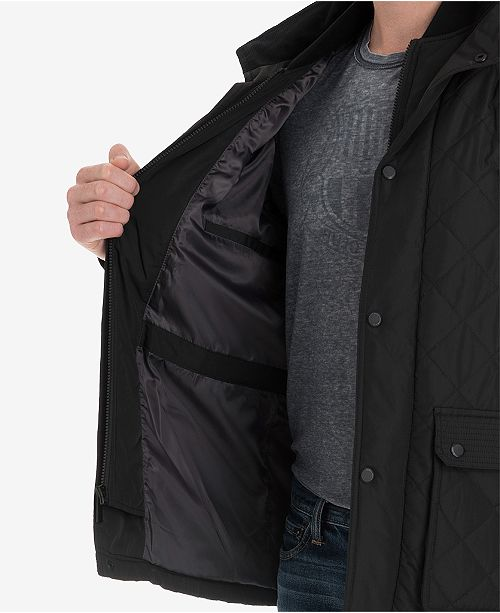 London Fog Mens Arietta Diamond Quilted Field Coat Created For